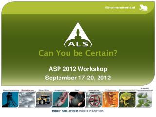 ASP 2012 Workshop September 17-20, 2012