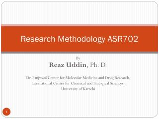 Research Methodology ASR702