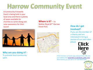 Harrow Community Event