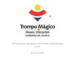 Avenida Central 750, Residencial Poniente, 45136 Zapopan,  Jalisco Servicio Social