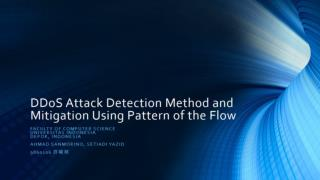 DDoS Attack Detection Method and Mitigation Using Pattern of the Flow
