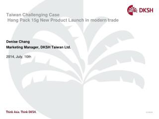 Taiwan  Challenging Case  Hang Pack 15g New Product Launch in modern trade