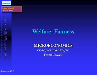 Welfare: Fairness