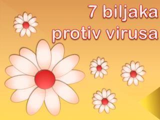 7  b iljaka protiv virusa