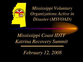 Mississippi Voluntary  Organizations Active in Disaster (MSVOAD)