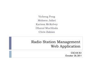 Radio Station Management  Web Application