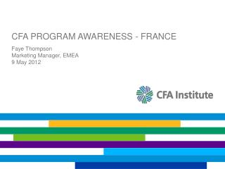 CFA PROGRAM AWARENESS - FRANCE