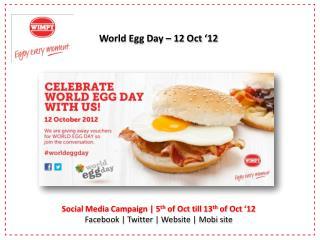 World Egg Day � 12 Oct �12