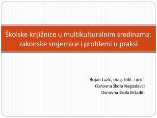 Školske knjižnice u multikulturalnim sredinama: zakonske smjernice i problemi u praks i