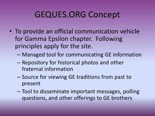 GEQUES.ORG Concept