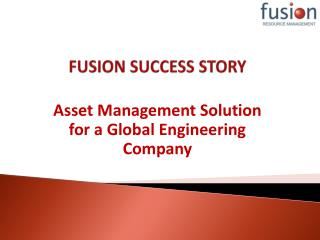 FUSION SUCCESS STORY