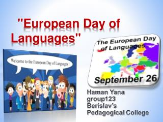 """ European  Day  of  Languages """