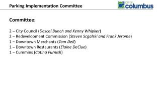 Parking Implementation Committee