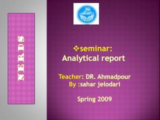 seminar:  Analytical report