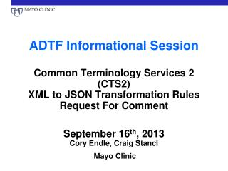 ADTF Informational Session
