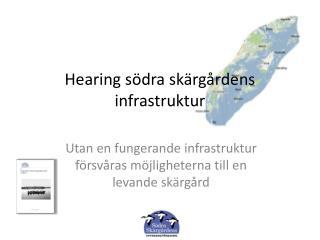Hearing södra  skärgårdens infrastruktur