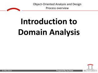 Introduction to Domain Analysis