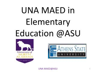 UNA MAED in Elementary  Education @ASU