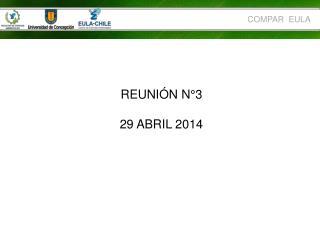 REUNIÓN N°3  29 ABRIL 2014