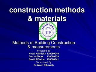 construction methods & materials