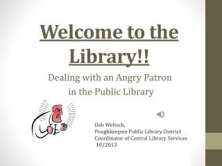Welcome to the Library!!