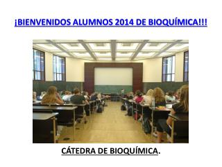 CÁTEDRA DE BIOQUÍMICA .