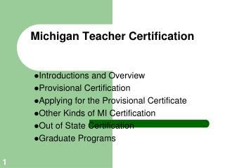 Michigan Teacher Certification
