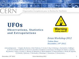UFOs Observations, Statistics  and Extrapolations