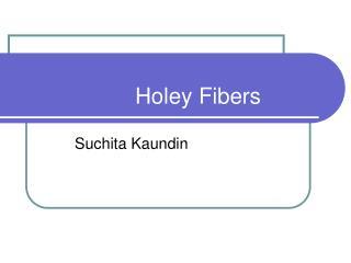 Holey Fibers