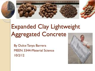 Expanded Clay Lightweight Aggregated Concrete
