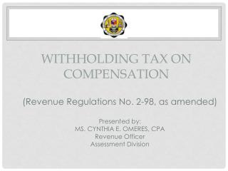 WITHHOLDING TAX ON COMPENSATION
