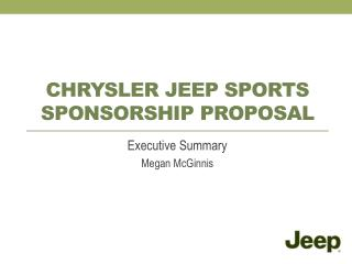 Chrysler Jeep sports sponsorship Proposal