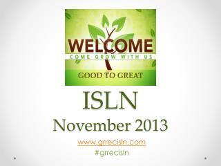 ISLN  November 2013