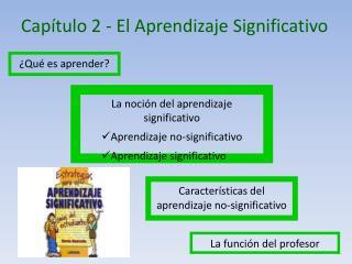 Capítulo 2 -  El Aprendizaje  Significativo