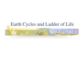 Earth Cycles and Ladder of Life