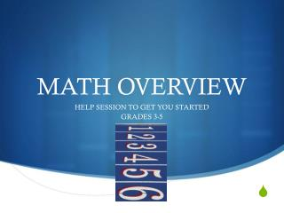 MATH OVERVIEW