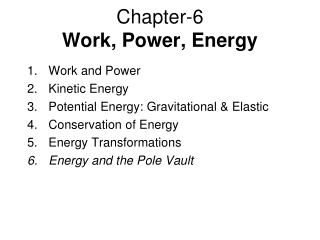 Energy Forms and Transformations