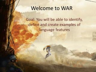 Welcome to WAR