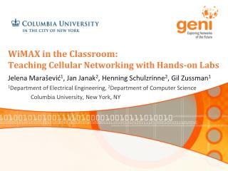WiMAX in the Classroom: Teaching Cellular Networking with Hands-on Labs