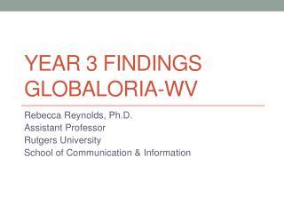 Year 3 findings Globaloria -WV