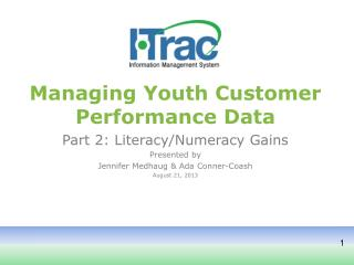 Managing Yout h Customer Performance Data