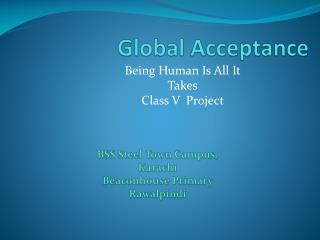 Global Acceptance