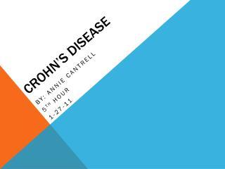 Crohn�s  Disease