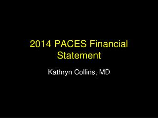 2014  PACES Financial Statement