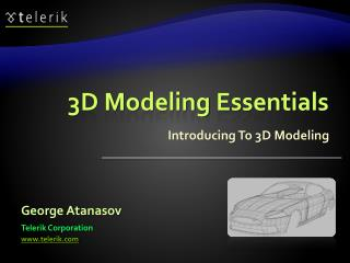 3D Modeling Essentials