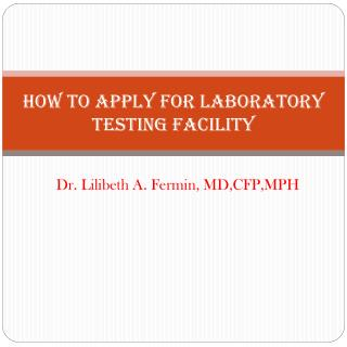 How to Apply for Laboratory testing Facility
