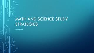 Math and Science Study strategies