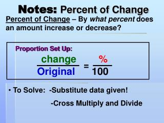 Notes: Percent of Change