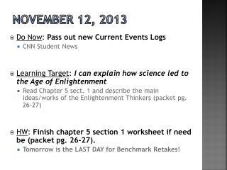 November 12, 2013