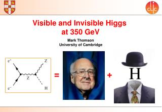 Visible and Invisible Higgs  at 350  GeV